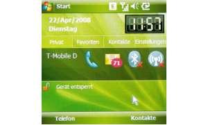 Startbildschirm des Samsung SGH-i780