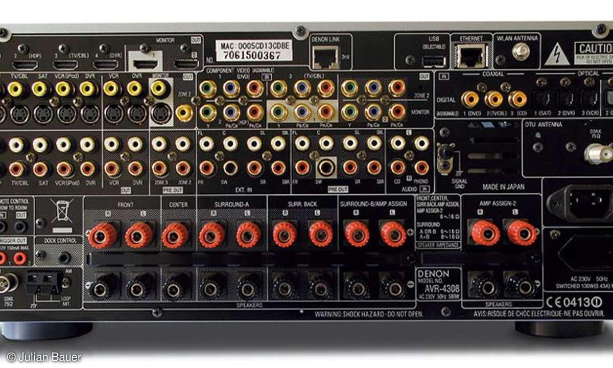 AVR 4308 Anschlüsse