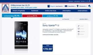 Aldi-Angebot: Sony Xperia U