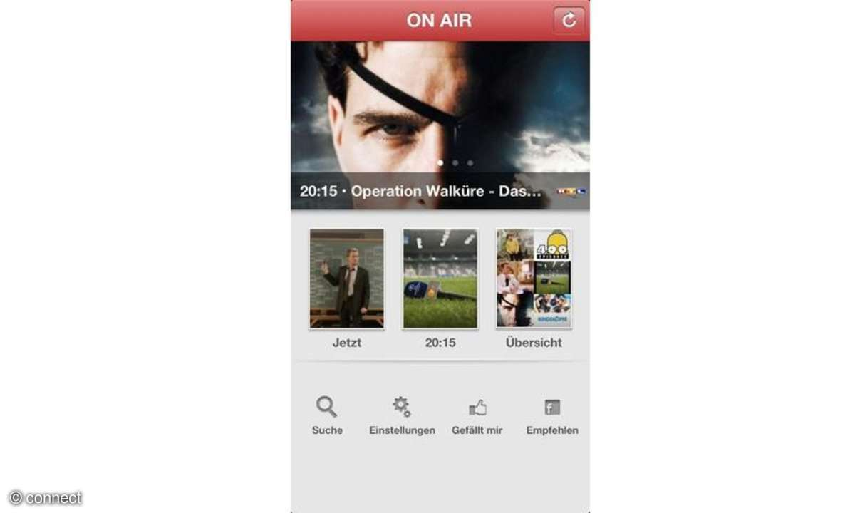 iPhone-TV-Zeitschrift On Air