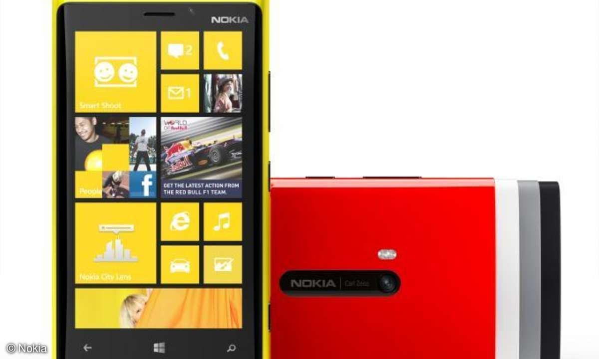 Nokias neues Flagschiff: Das Lumia 920 präsentiert sich farbenfroh.