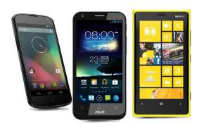 Nexus 4, Padfone 2, Lumia 920