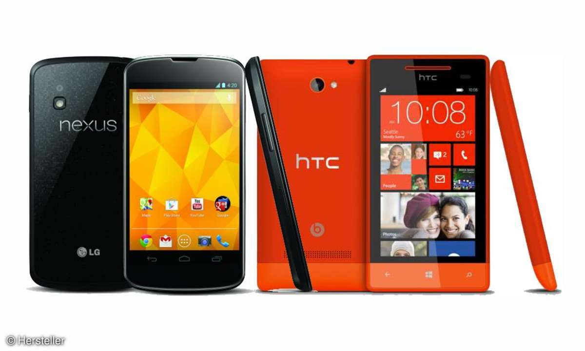Nexus 4, HTC 8S