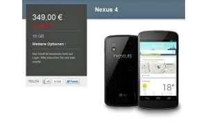 Google, Nexus 4, Nexus 4 ausverkauft