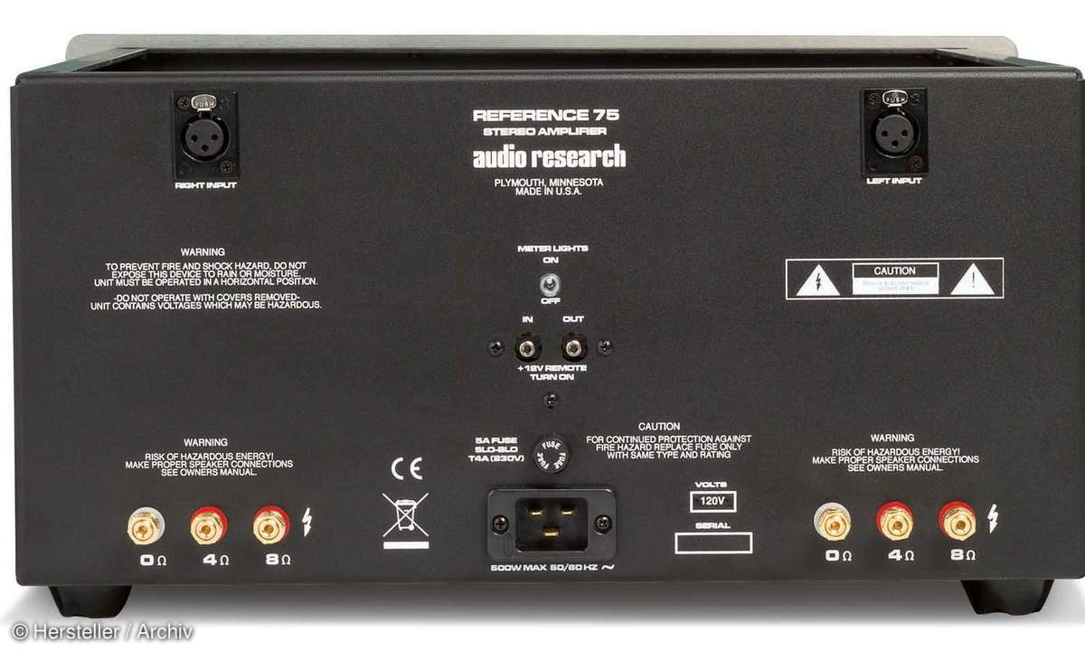 Audio Research Ref.75 - Anschlüsse
