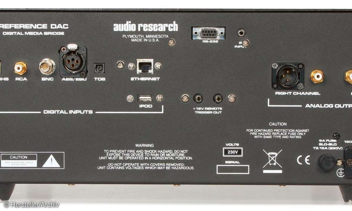 Audio Research Reference DAC Back