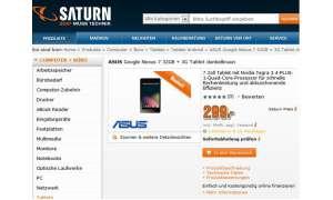 Asus Nexus 7, Saturn