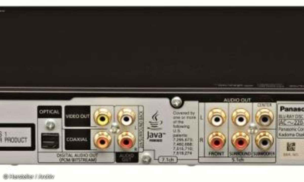 Anschlüsse des Panasonic DMP BDT 500 Blu-ray Player