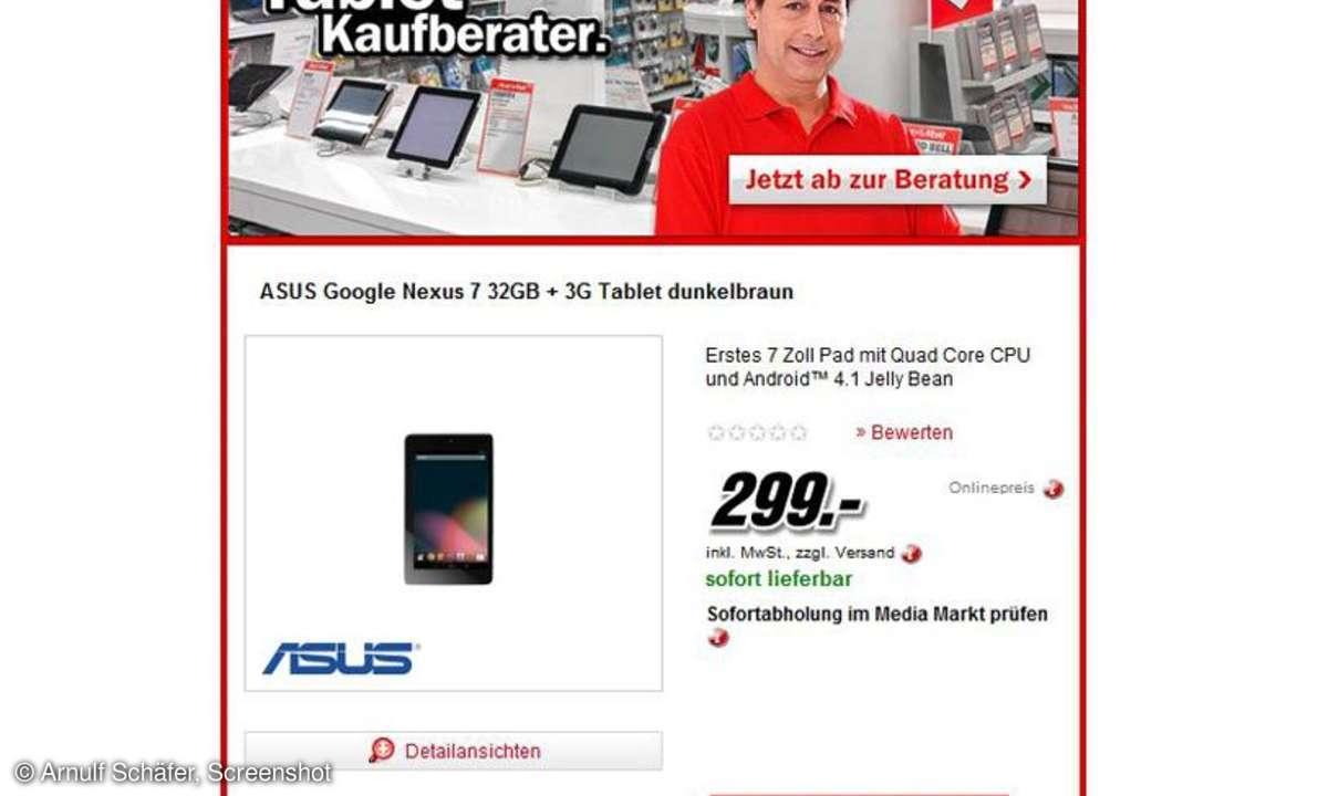 Media Markt, Nexus 7 3G