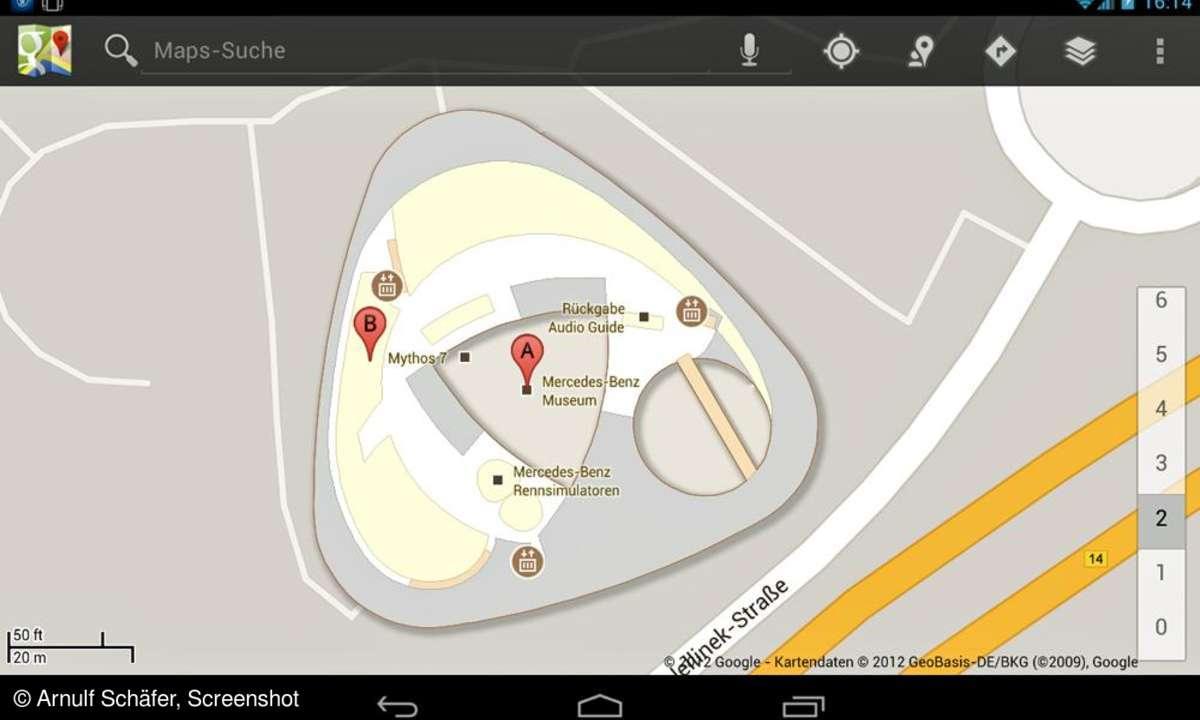 Google Indoor Maps, Mercedes Benz Museum