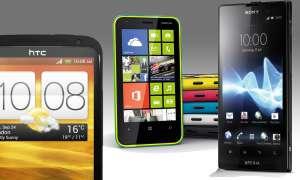 HTC Onc X+, Lumia 620, Xperia E