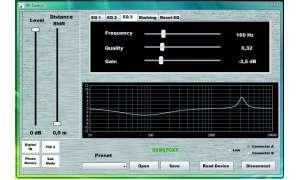 Benutzeroberfläche der FIRcontrol-Software