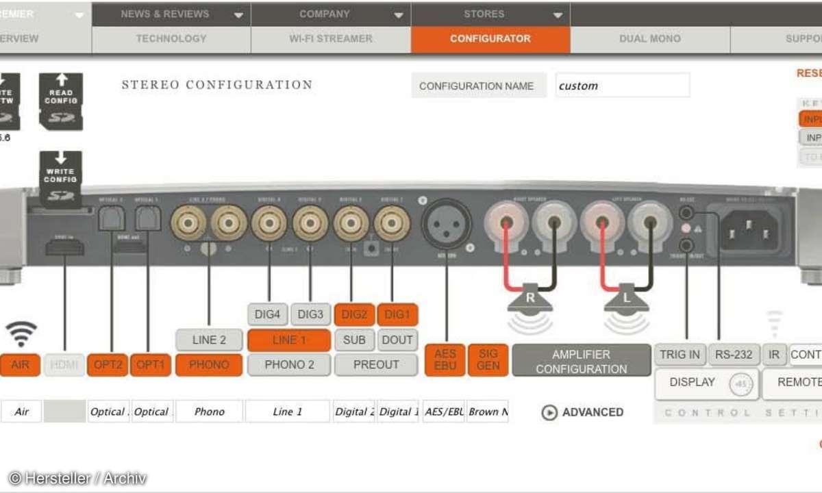 Devialet D-Premier - Konfiguration per Webbrowser