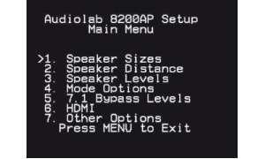 Audiolab - Bildschirmmenü