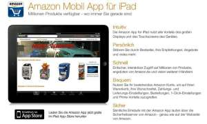 Amazon Mobil App für iPad