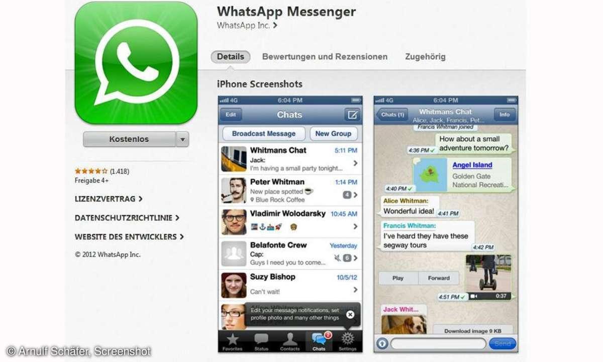 WhatsApp, iPhone, Messenger