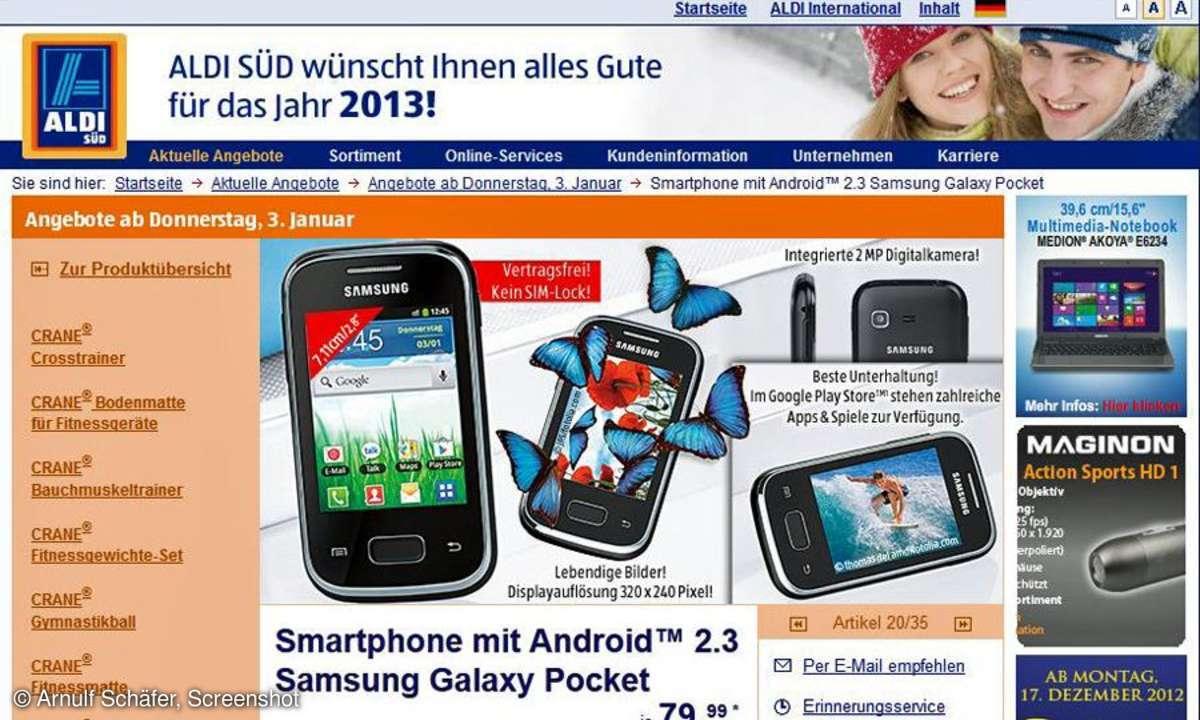 Aldi-Aktion, Galaxy Pocket