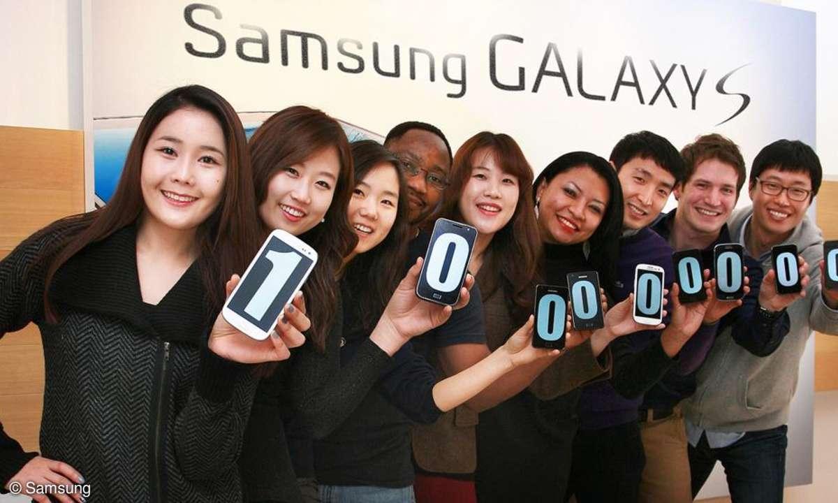 Samsung 100 Millionen Galaxy S