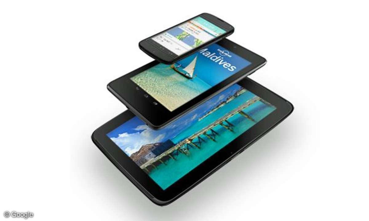 Google Nexus 4, Nexus 7, Nexus 10