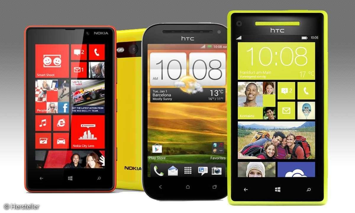 Lumia 820, One VS, HTC 8S