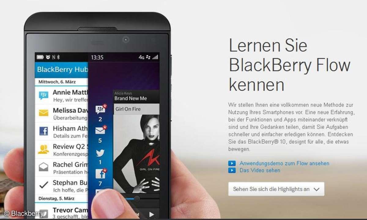 Blackberry Z10 Screenshot