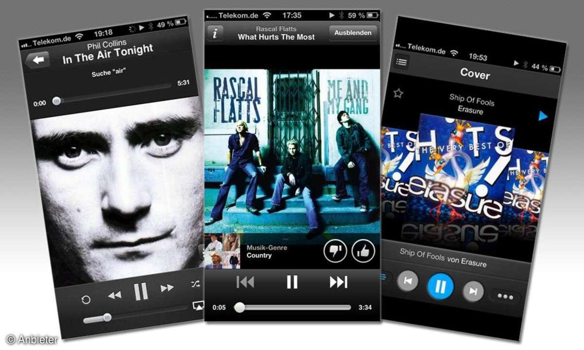 Apps für Musik-Streaming