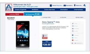 Aldi,Sony Xperia Miro