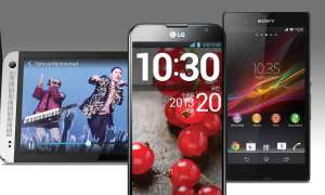 HTC One, Optimus G Pro, Xperia Z