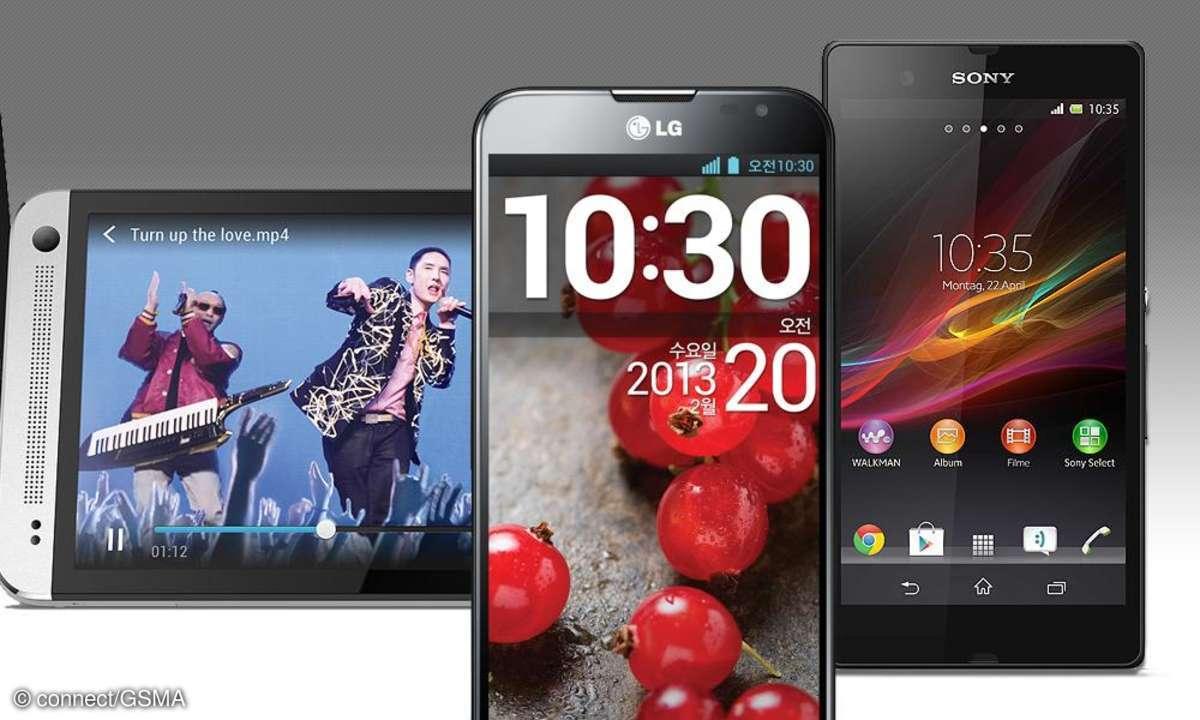 HTC One, Optimus G Pro, Xperia Z