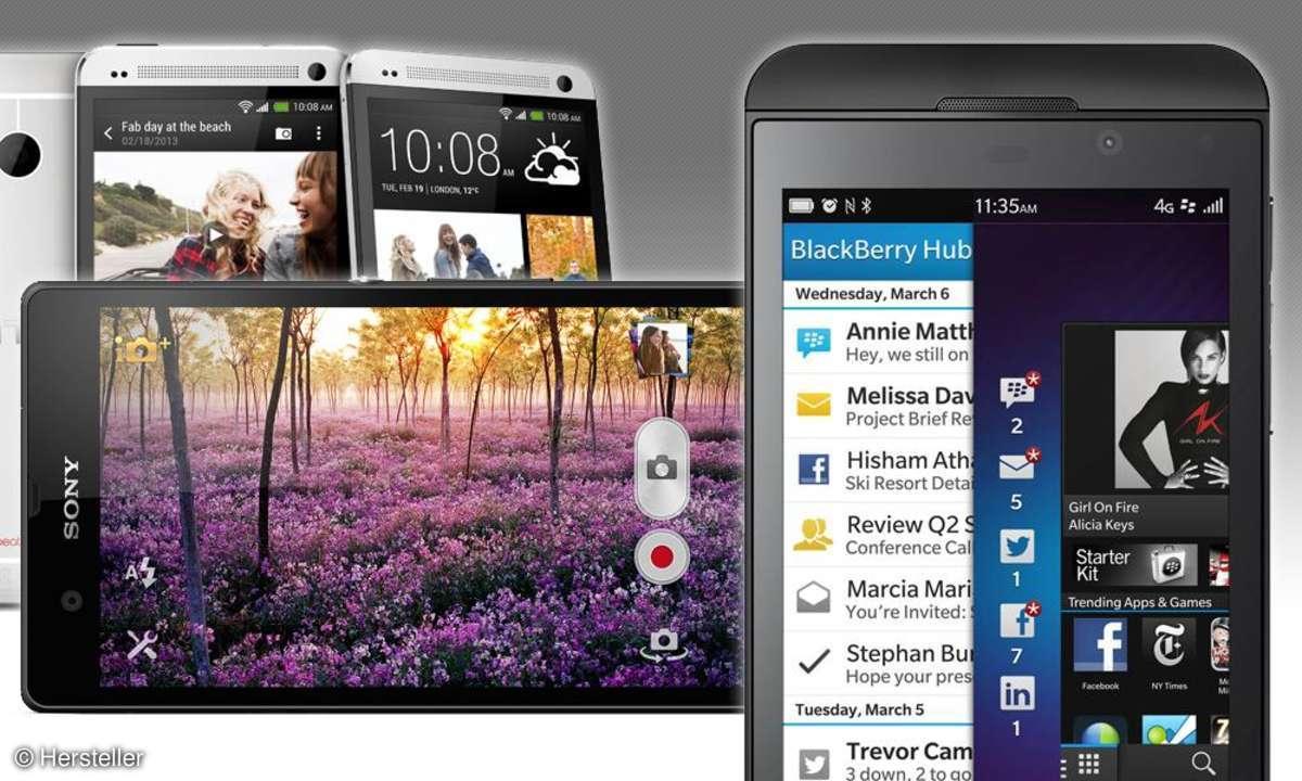 HTC One, Xperia Z, Z10