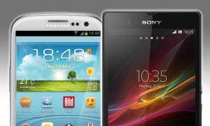 Galaxy S3, Xperia Z