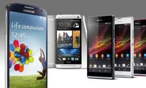 Galaxy S4, HTC One, Xperia SP