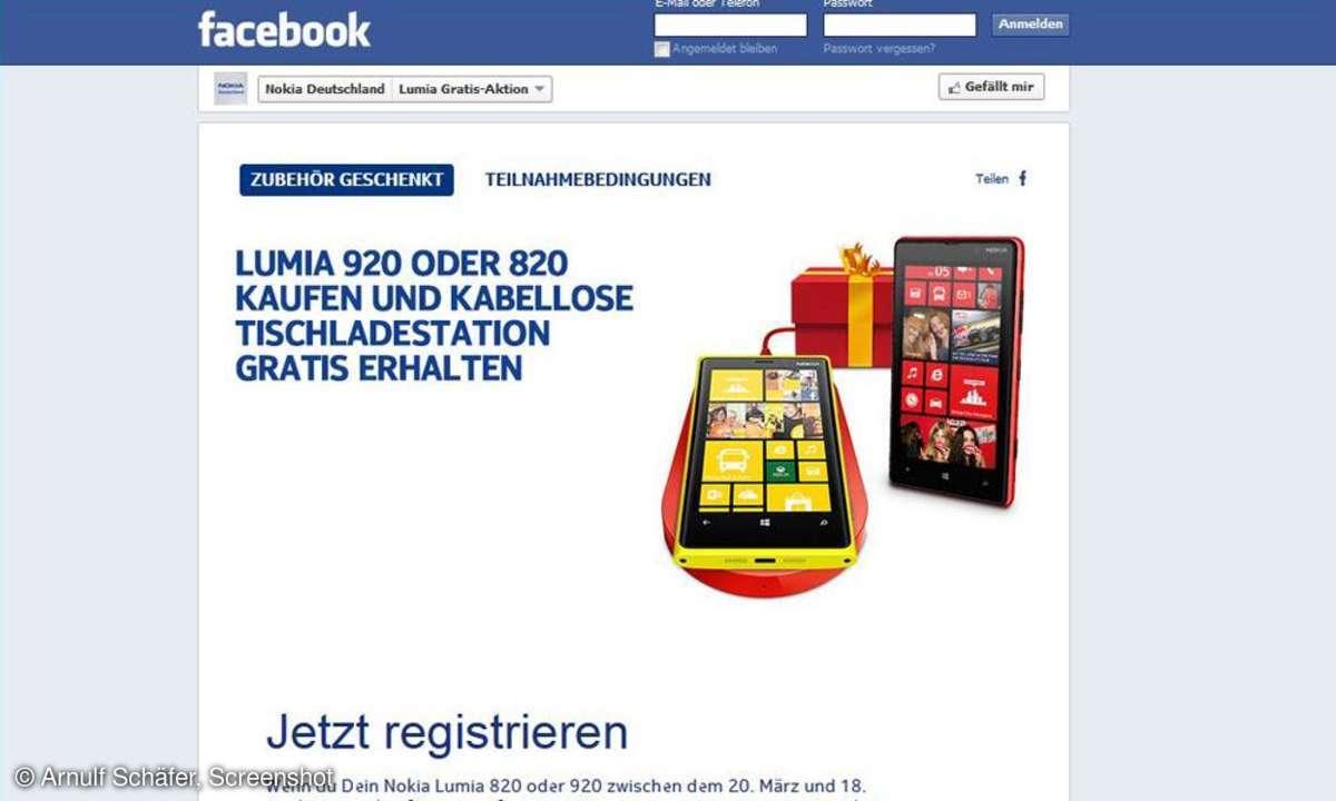 Nokia,Facebook-Aktion,Zubehör geschenkt