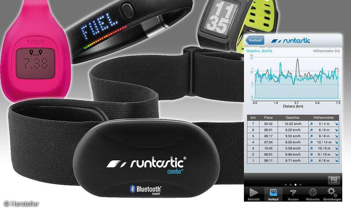 Fitbit, Runtastic, Nike