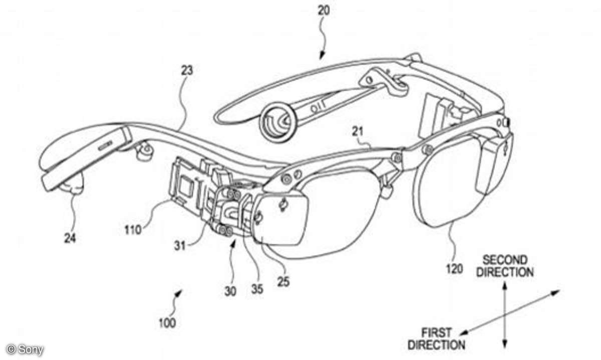 Sony-Brille Patentantrag