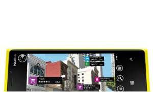 Nokia Lumia 920 angeschnitten