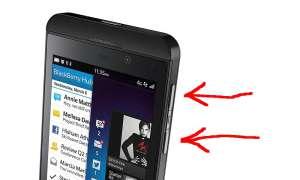 Blackberry Z10: Screenshot erstellen