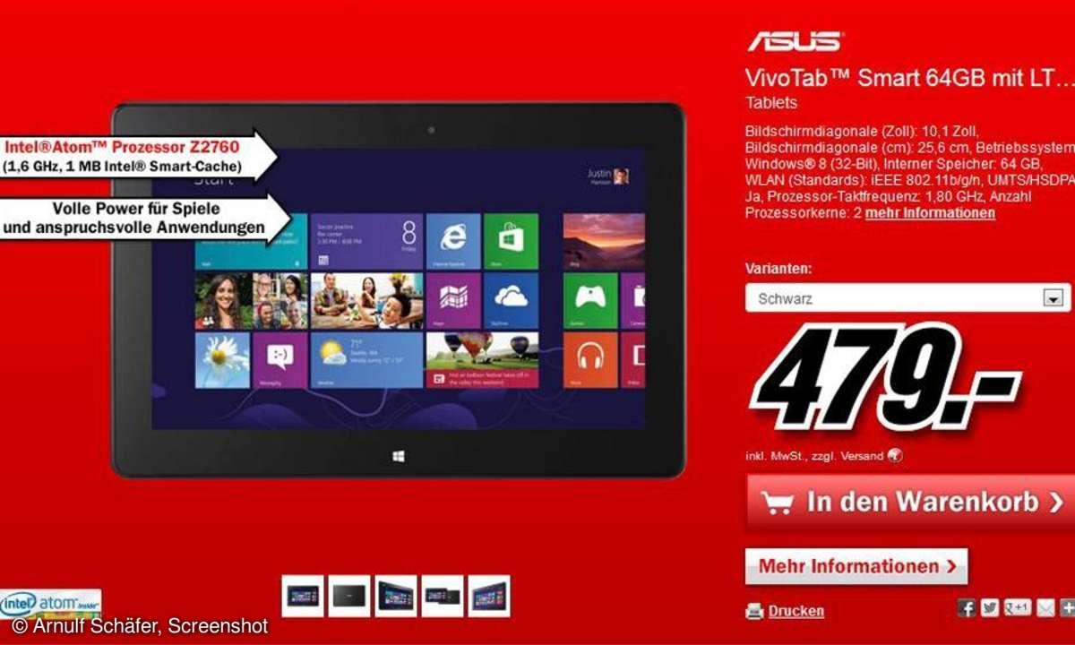 Media Markt, Asus Vivo Tab Smart
