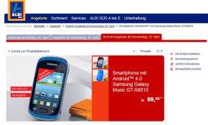 Aldi Aktion,Samsung Galaxy Music