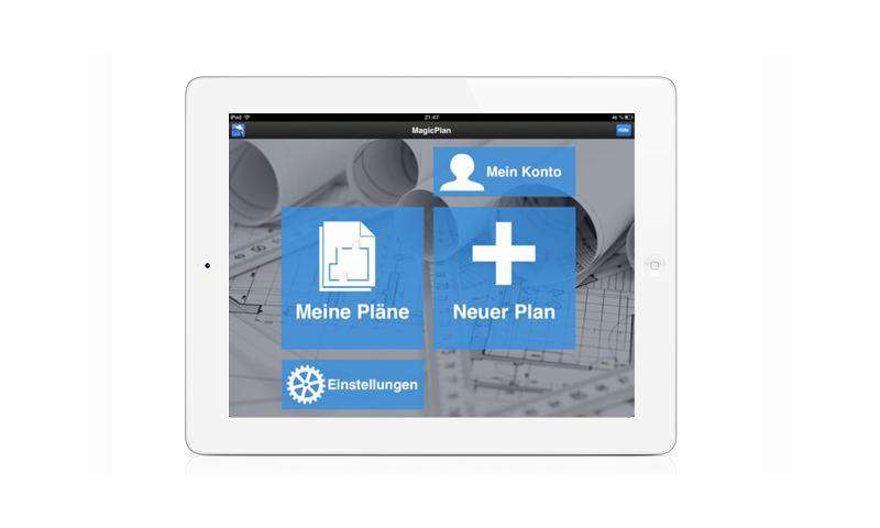 magicplan grundrisse zeichnen mit iphone und ipad connect. Black Bedroom Furniture Sets. Home Design Ideas