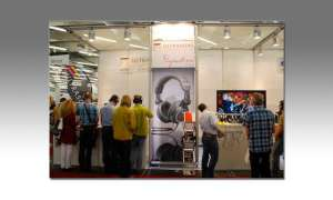 Ultrasone Messestand