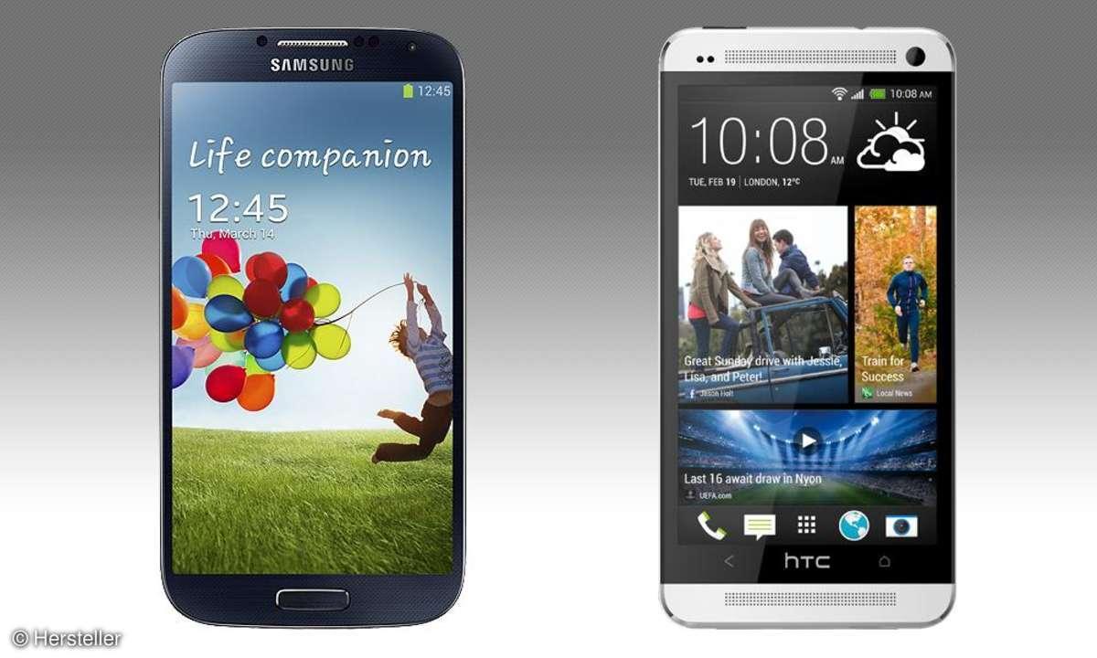 Samsung Galaxy S4 gegen HTC One