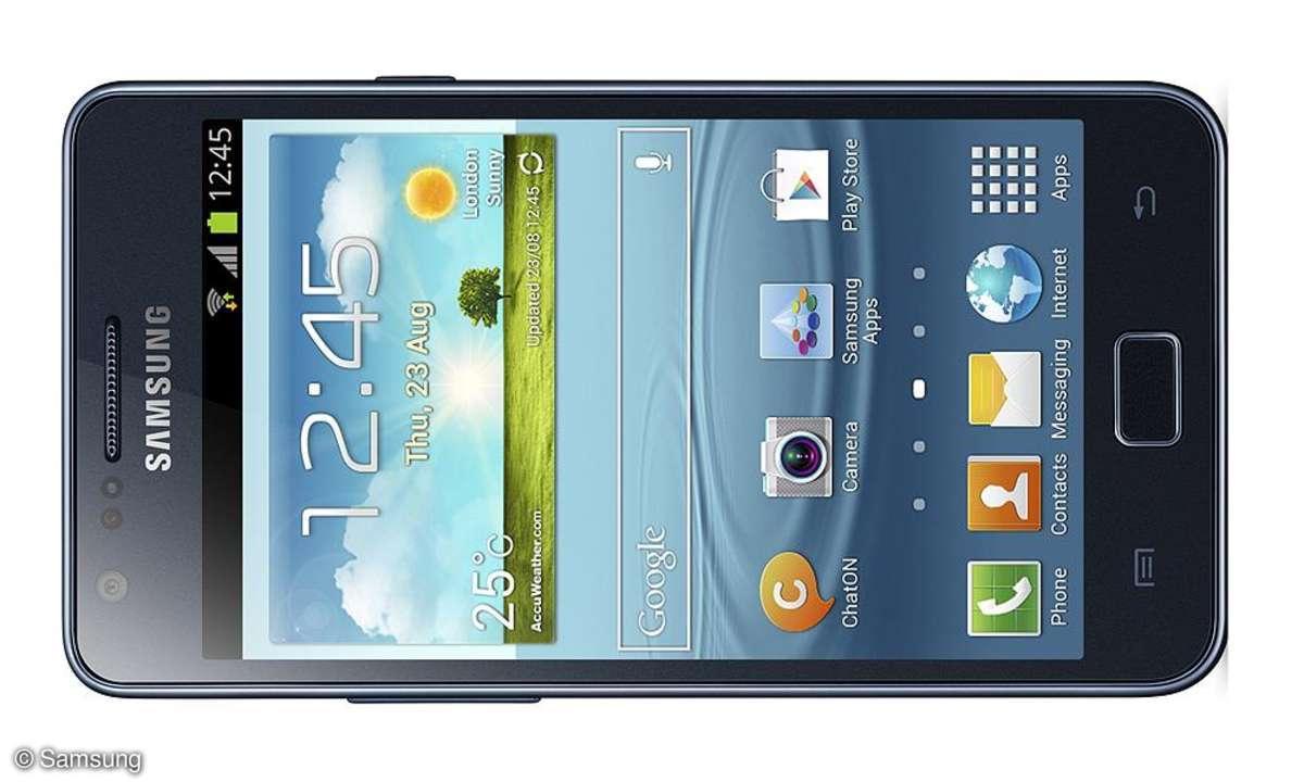 Samsung Galaxy S2 Plus - Frontansicht