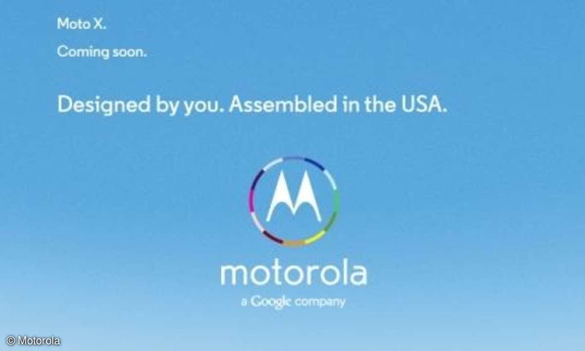 US-Printanzeige für das Motorola X
