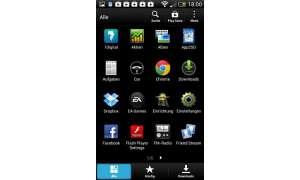 HTC One SV - App-Menü