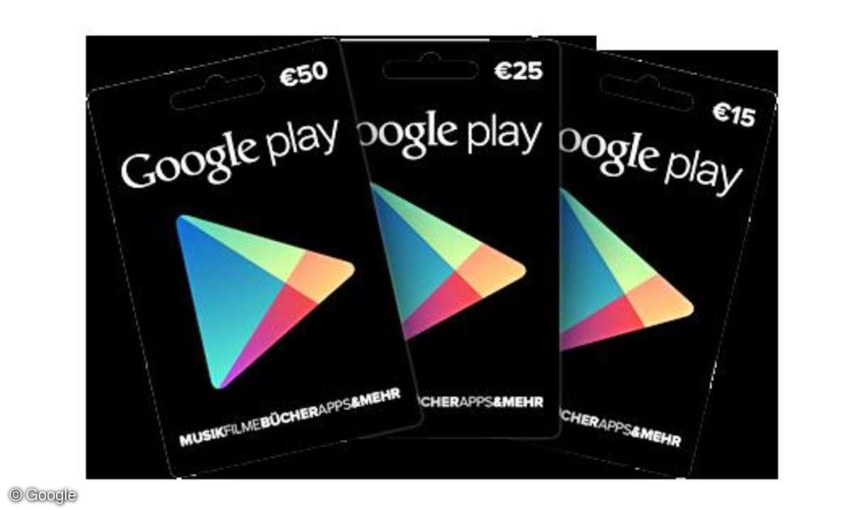 Google Play,Gutscheinkarten
