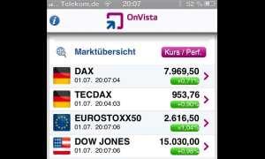 Die App des Finanzportals OnVista