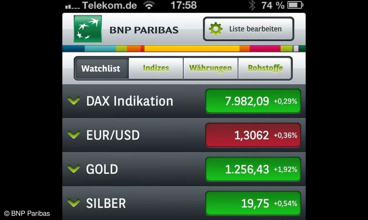 Die Finanzplatz-App Trader's Box