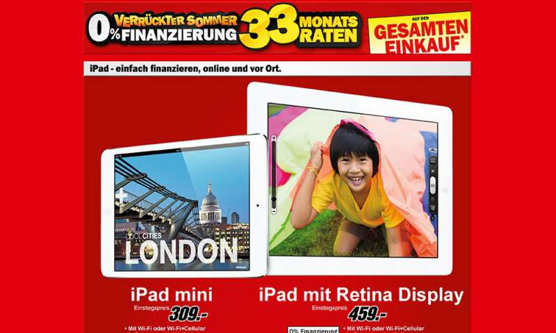 media markt ipad 4 und ipad mini im angebot connect. Black Bedroom Furniture Sets. Home Design Ideas