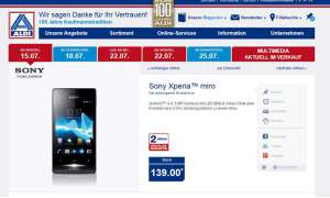 Aldi Nord,Sony Xperia Miro